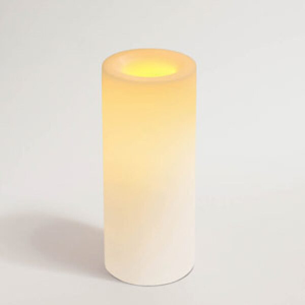 "Candle 8 x 3.25"" Round White Unscented Flameless (CI45808WH)"