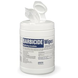 "Barbicide Wipes 6"" x7.75"" 160 Count (KR11364)"