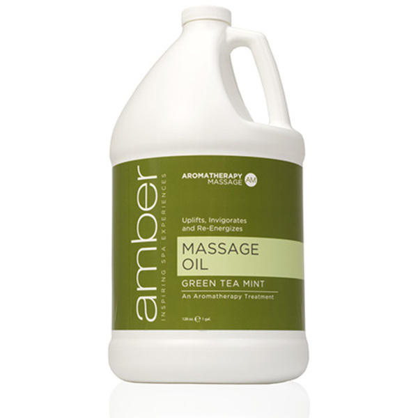Massage Oil - Green Tea Mint 128 oz. (527-GT)