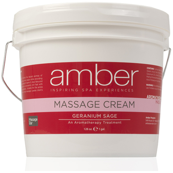 Massage Cream - Geranium Sage 128 oz. (533-GS)