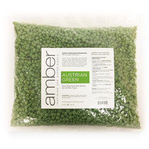 Austrian Green Wax Beads - Professional Stripless Hard Wax 2.2 lbs. (137B)