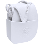 Salvatos - Portable Foldable Packable Flip-Flops - Snow White | White Strap + White Sole Case of 20 Pairs - 5 Small + 10 Medium + 5 Large (SS17FF001)
