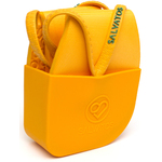 Salvatos - Portable Foldable Packable Flip-Flops - Papaya | Yellow Strap + Yellow Sole Case of 20 Pairs - 5 Small + 10 Medium + 5 Large (SS17FF014)