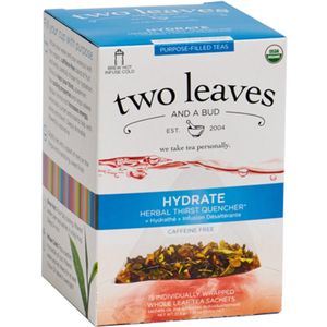 Organic Hydrate Tea - Herbal Thirst Quencher Case of 6 Boxes of 15 Sachets = 90 Sachets Total