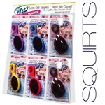 Wet Brush Squirts Display 24 Brushes - Assorted Colors (SPB832W)