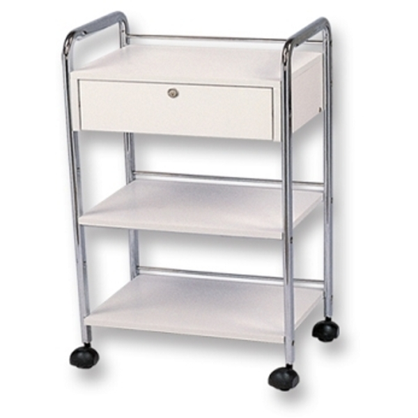 Meishida Salon Cart with Single Locking Drawer (W