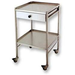 Stainless Steel Cart with Drawer + 2 Shelves (NS-04T)