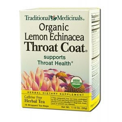 Throat Coat Organic Lemon Echinacea Tea 16 Tea Ba