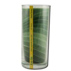 Candle Gem Tone Unscented Jar Green 11 oz by Alo