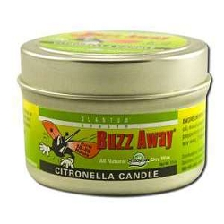 Buzz Away Citronella 20 Hour Candle 4.3 oz by Quan