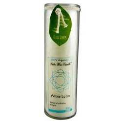 Candle Chakra Jar Unscented Lotus-White 16 oz by
