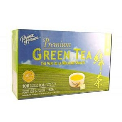 Premium Green Tea 100 Tea Bags by Prince of Peace