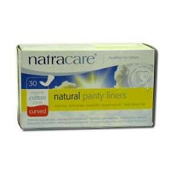 Natural Panty Liners Curved 30 Liners by Natracar