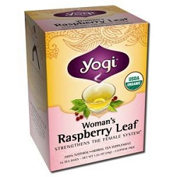 Woman's Raspberry Leaf Tea 16 Tea Bags by Yogi Tea Company / 16 Bags / Case of 6 Boxes
