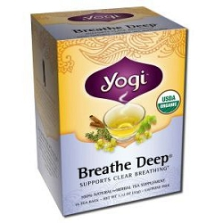 Breathe Deep Tea 16 Tea Bags by Yogi Tea Company / 16 Bags / Case of 6 Boxes