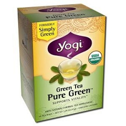 Simply Green Tea 16 Tea Bags by Yogi Tea Company / 16 Bags / Case of 6 Boxes