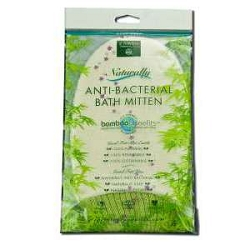 Naturally Anti-Bacterial Bamboo Bath Mitt by Earth