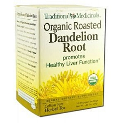Organic Roasted Dandelion Root Tea 16 Tea Bags by