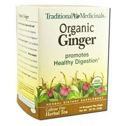 Organic Ginger Tea 16 Tea Bags by Traditional Medi