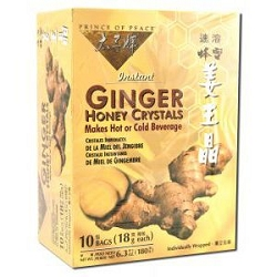 Ginger Honey Crystals 10 Bags by Prince of Peace