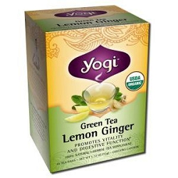 Green Tea Lemon Ginger Tea 16 Tea Bags by Yogi Tea