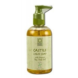 Castile Liquid Soap with Organic Tea Tree Oil Pum