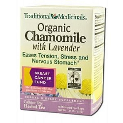 Organic Chamomile Tea with Lavender 16 Tea Bags by