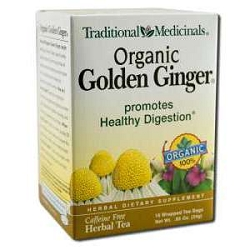Organic Golden Ginger Tea 16 Tea Bags by Tradition