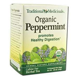 Organic Peppermint Tea 16 Tea Bags by Traditional