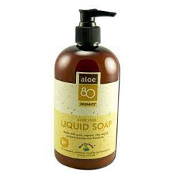 Aloe Vera 80 Organics Liquid Soap 16 oz by Lily of