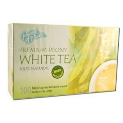 Premium Peony White Tea 100 Tea Bags by Prince of