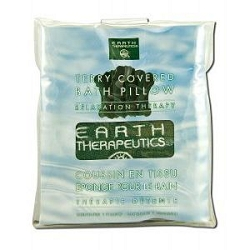 Terry Covered Bath Pillow Dark Green by Earth The