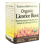 Organic Licorice Root Tea by Traditional Medicinals / Case of 6 boxes of 16 Bags