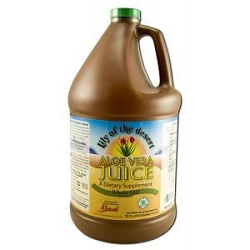 Aloe Vera Juice Whole Leaf 128 oz by Lily of the D
