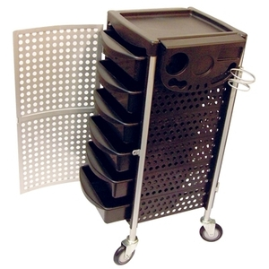 Celebrity 6-Tray Lockable Salon Trolley With Organ