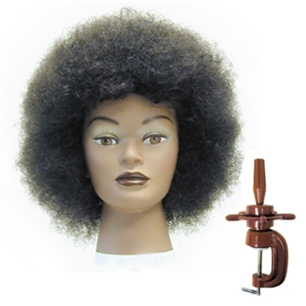 Celebrity Dionne Afro Manikin With H-222 Holder (E