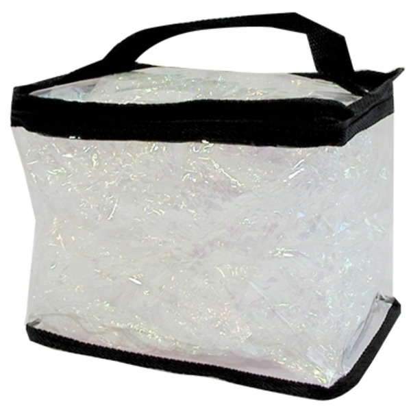 "Clear Totes Train Case 7-12""L X 6-14""H X 5-12""D"