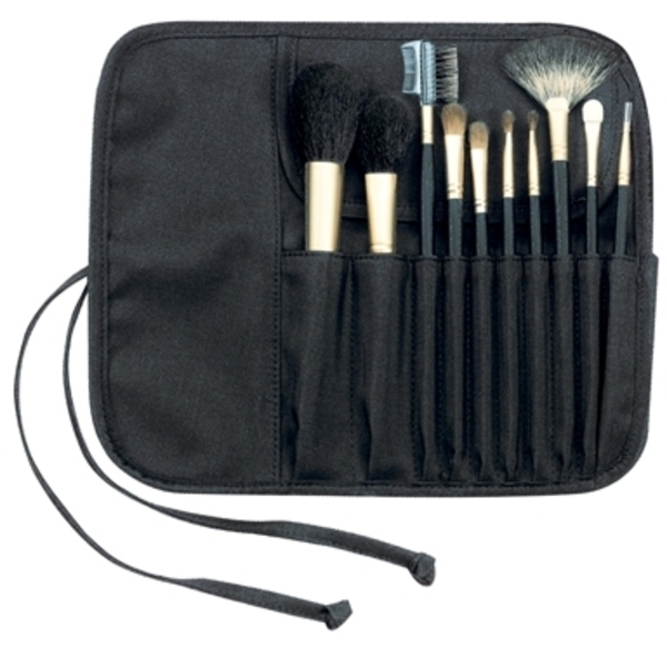 Fantasea 10 Piece Cosmetic Brush Set In Rollup (FS