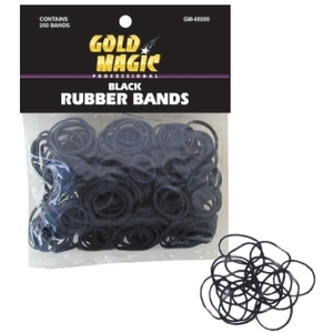 Gold Magic Rubber Bands Black (GM-00200)