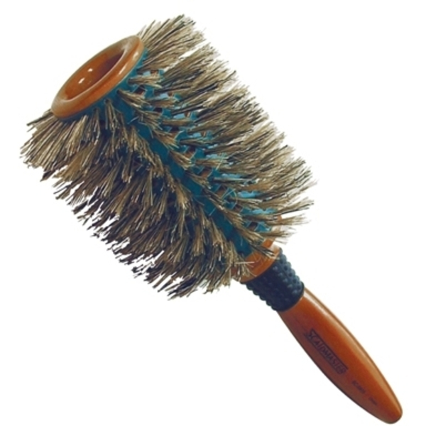 "Scalpmaster 4"" Ceramic Vented Round Wooden Brush ("