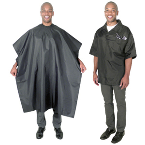 Scalpmaster Barber Jacket And Cutting Cape Set Bl