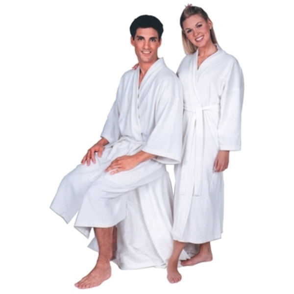 Scalpmaster Terry Cloth Spa Robe White (3046)