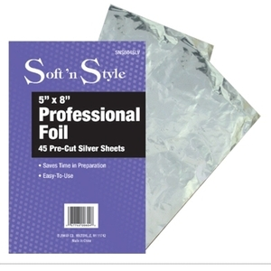 Soft 'n Style 5X8 Individual Sheets Of Foil Silve