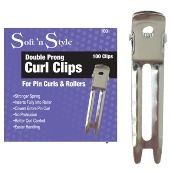 Soft 'n Style Boxed Double Prong Clips 100 Count