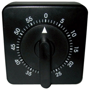 Soft 'n Style Square Timer Black (T-16 )