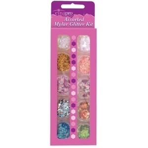 CinaPro Assorted Mylar Glitter Kit / 10 Pieces (CI-18031)