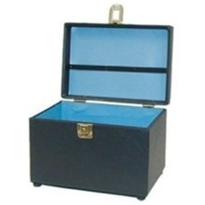 City Lights Duratex Train Case Large (616-BK)