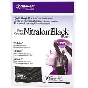 Graham Black Nitralon Glove Medium 10 per Bag