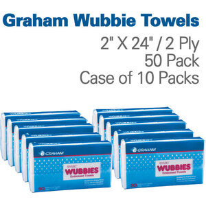 "Graham Wubbie Towels 12"" X 24"" 2 Ply 50 Pack"