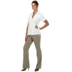 Canyon Rose Esthetician Wrap Jacket Large White (BD676W-L)